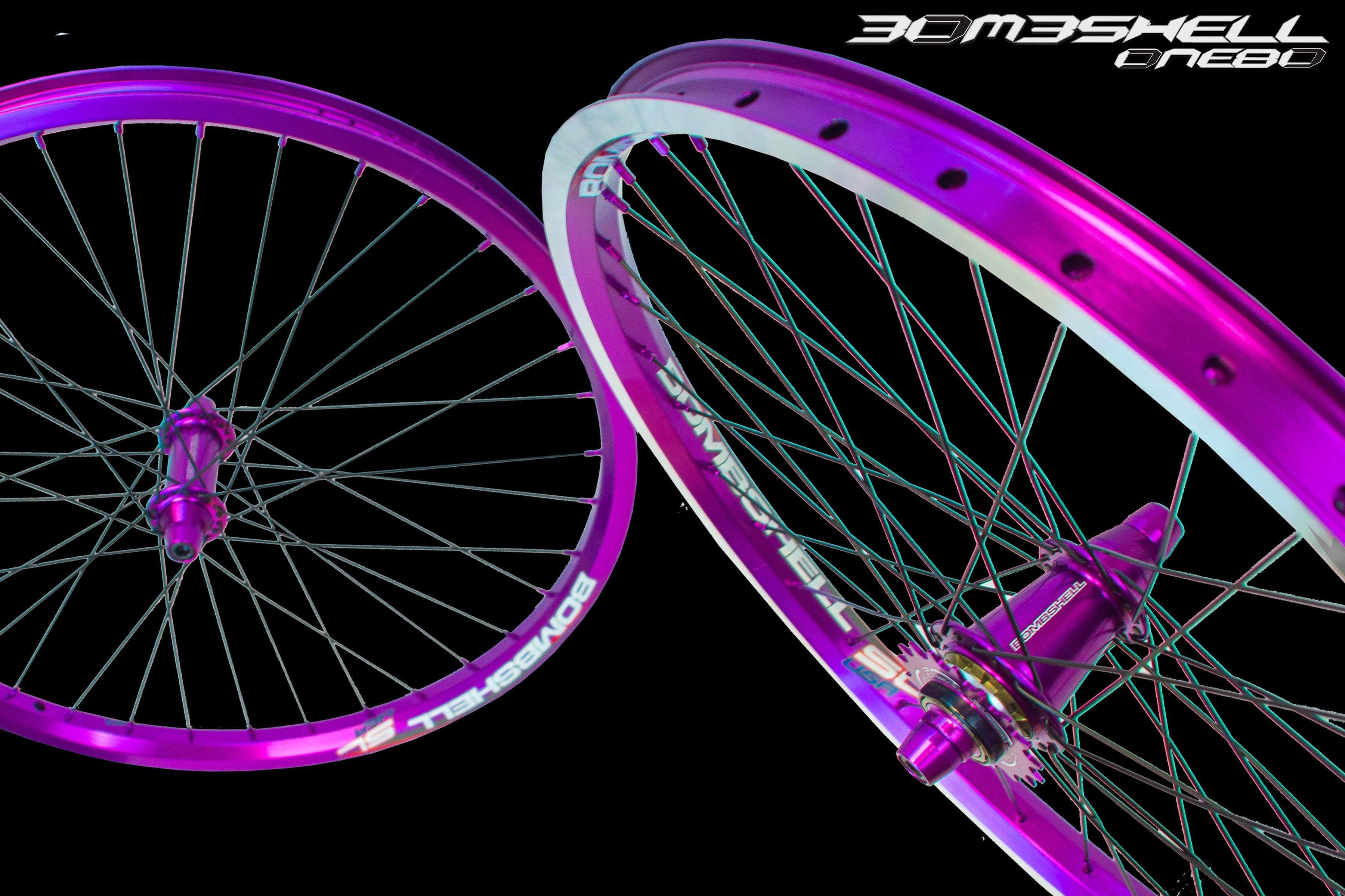 acade bombshell bmx wheelset